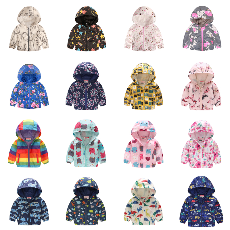 Baby Coat Hoodies Windbreaker Girls Jackets Kids Clothes Toddler Infant Boys Waterproof