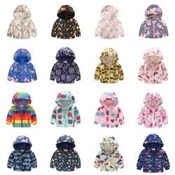 Новая Брендовая детская одежда куртки для мальчиков и девочек детские ветровки с капюшоном водонепроницаемые толстовки для малышей пальто...