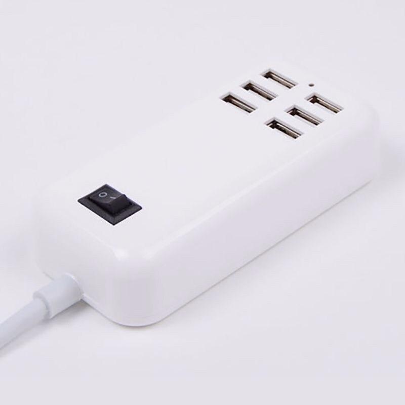 Carregador USB HUB Portas 6 UE/EUA 3A Plug Tomada de Parede Adaptador De Energia Extensão Doca de Carregamento Rápido Para Celulares telefone Tablet
