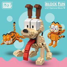 LOZ Blocks Diamond Exotic Cat Micro Building Blocks Figures Cartoon Mini Plastic Assembly Toys Small Blocks