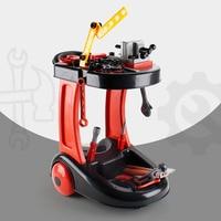 Kids Tool Toys Set Simulation Repair Tool Screwdriver Repair Tools Cart Toy Trolley Model Toys Pretend Play Toy