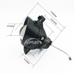 Ronan Adjustable Bixenon Fog Lights Lens For Nissan H11 D2H Lamp Projector HID Full Metal Lenses Car Auto D2H Bulbs Retrofit