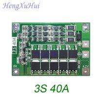 Placa de Proteção Da Bateria de Iões de lítio 40A 3 s Drive Motor Da Broca 11.1 v 12.6 v PCB Board (Empatou o Carregamento Opcional) 10 unidades/pacote