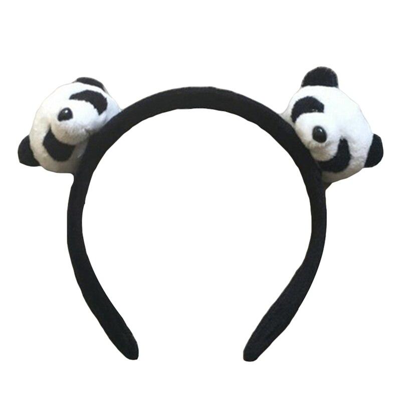 4cm Cute Panda Elastic Hair Bands 3D Cartoon Hair Clip For Girls Hair Accessories Dolls Headwear Hair TIE Kid's Party Gift