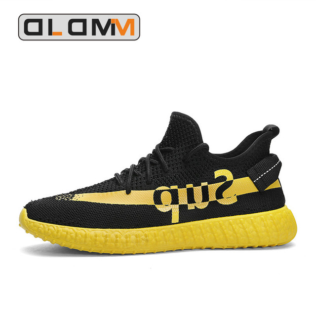 New Sport Shoes Comfortable Black Sneakers Men Breathable Running Shoes Men Lace-Up Rubber Fashion Walking Shoes Men Summer