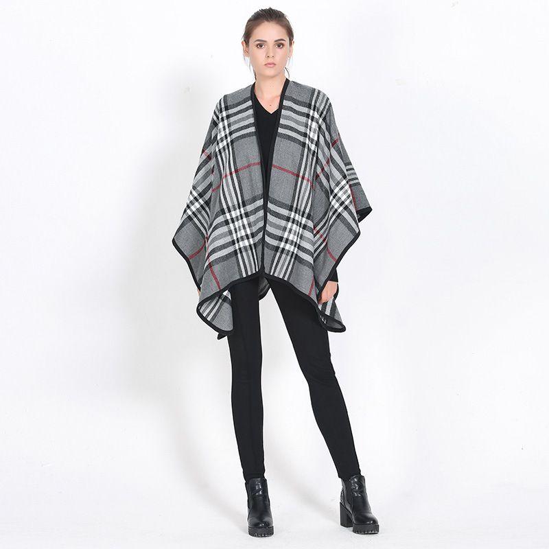 Women font b Tartan b font Foulard Pashmina European Fashion Blanket Scarf Mujer Pattern Echarpe Hiver