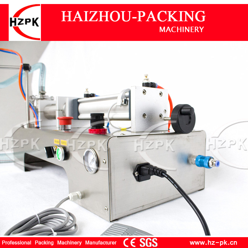 HZPK Semi-automatic Liquid Filler Stainless Steel Horizontal Single Head Bottle Filling Machine Small Packer 500-2500mlG1WYD2500 цена