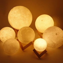 3D Glowing Moon Lamp Colorful Change With Stand Decor Gift