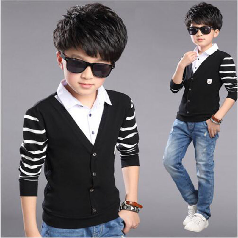 Boys clothes children knitted T Shirt teenage spring Clothes baby boys long sleeve shirt Autumn boys jacket 5-13 Y kids outwear стоимость