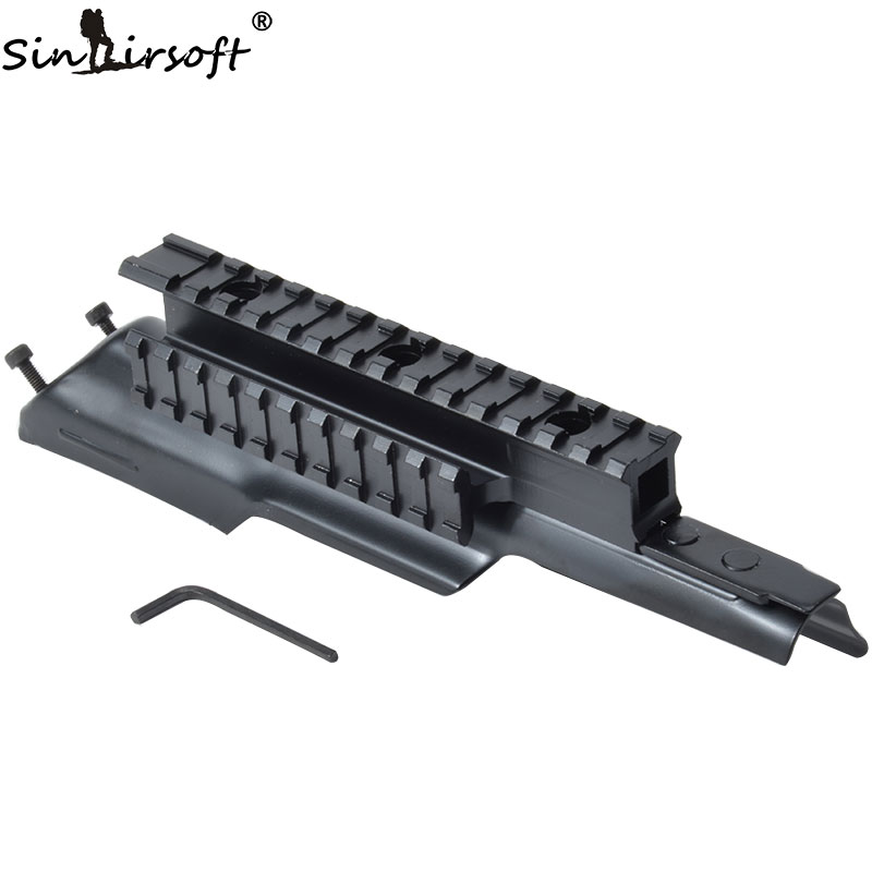 Tactische AK-ontvanger Drievoudig 20 mm Picatinny & Weaver Rail Top Scope Mount Systeem Cover Fit 47 & 74