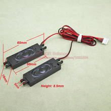 (2 шт./лот) 2 Вт 2 Вт 8 Ом 8r 18*65*8.5 мм мультимедиа Динамик для рекламы машина с Провода встроенный мини-box Динамик
