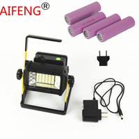 AIFENG 50W powerful Portable Spotlight hunting led spot light rechargeable charger Alarm light outdoor with battery 18650