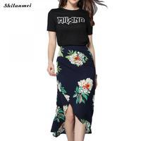 Mùa hè Bãi Biển Váy 2018 Mới Thời Trang Váy Womens Irregular Váy Dài Nữ Vintage Floral Print Sexy Front Slit Váy Quấn