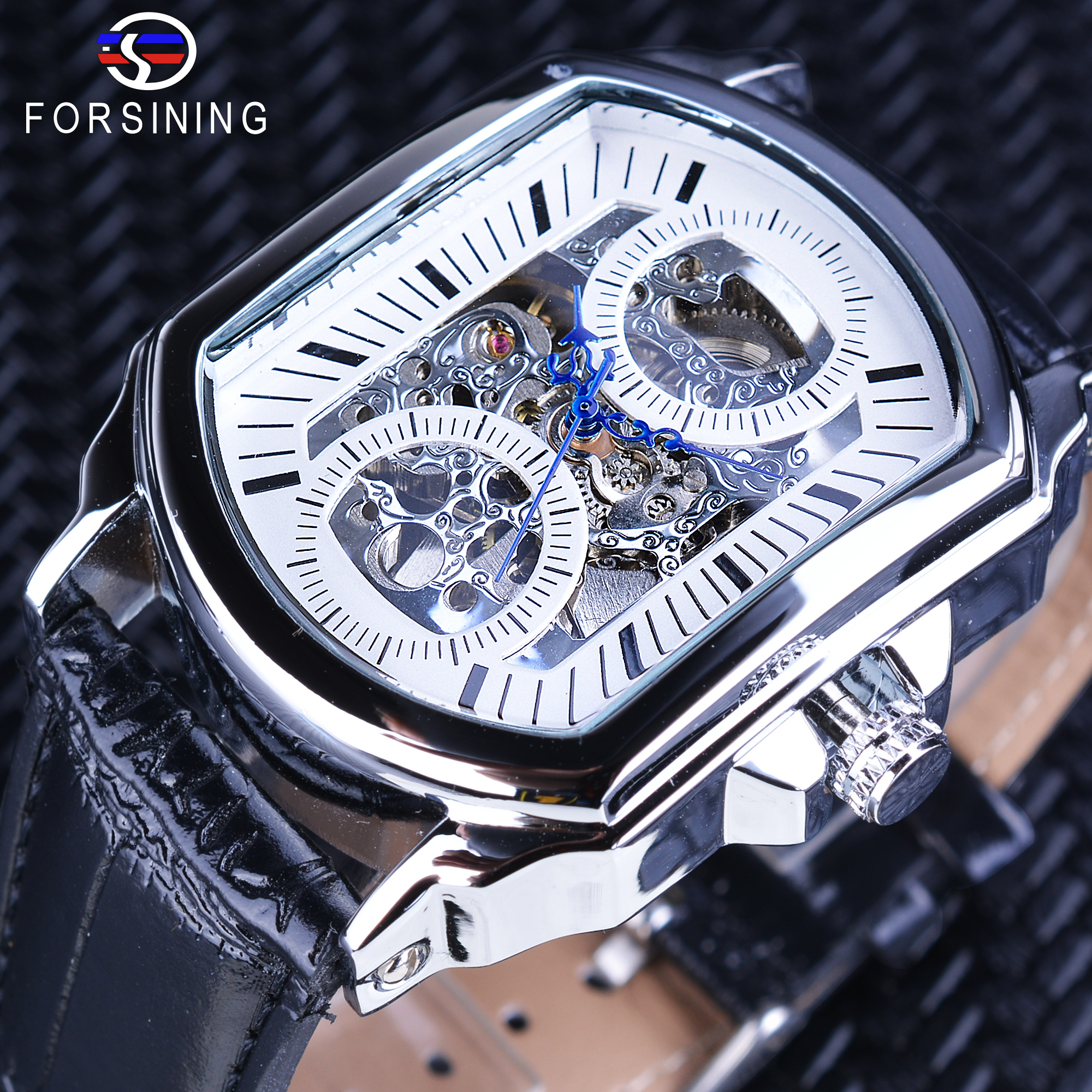 luxury chronograph mens big western silver watches hands pl