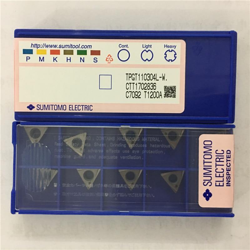 T1200A    TPGT110304L  W Original SUMITOMO Carbide Insert 10pcs/lot Free Shipping