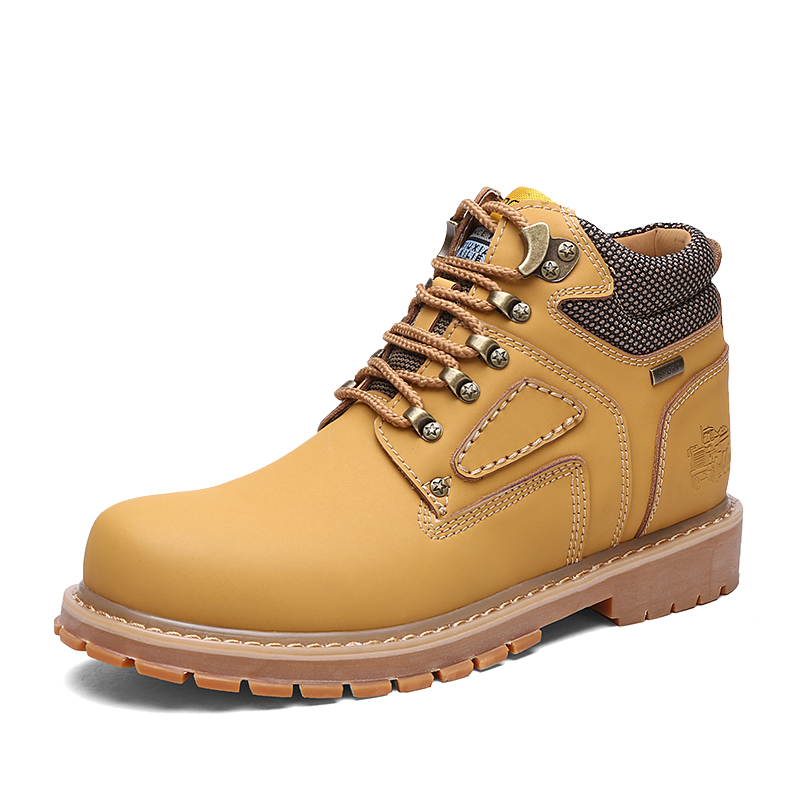 ФОТО shoes MEN winner cow leather medium upper lace up outdoor durable skid warm Mountaineer men's shoes