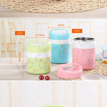 Japanese Thermal Lunch Box Leak-Proof Stainless Steel Kids Portable Picnic Students School Food Container Kitchen