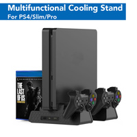 PS4/Slim/PRO Vertical Stands With 3 Cooling Fan Charging Station For SONY Playstation 4 Dual Controller Charger Cooler Dock