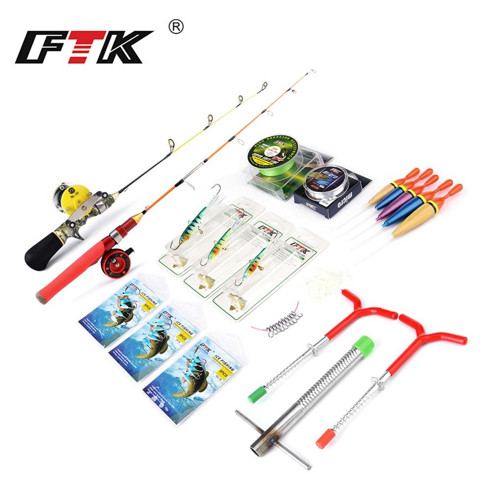 FTK Winter Ice Fishing Rod With Ice Fishing Reel Winter Ice Fishing Tackle