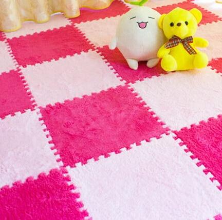 Factory Direct Short Fur Hair Puzzle Eva Foam Floor  Mat,pad;cuttingu0026interlocking Area Rug,carpet 30*30cm For Living Room,bedroom