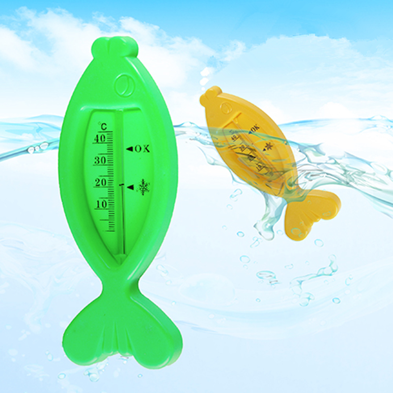 Fish Baby Water Thermometer Floating Tub Temperature Water Tester Cartoon Fish Shaped Bath Tub Water Sensor Thermometer