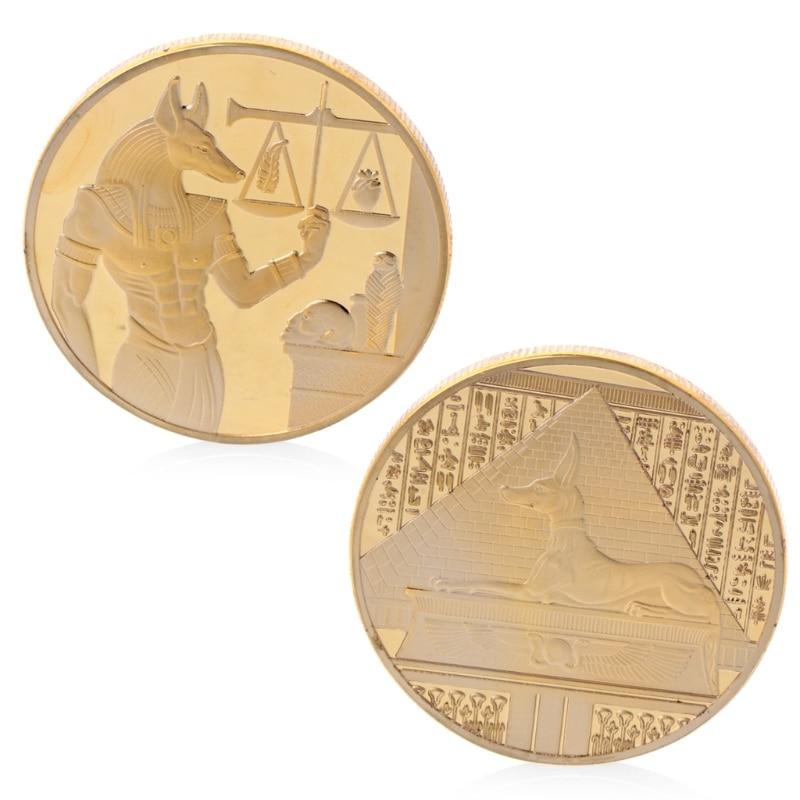 Coin Souvenir Silver Plated Libra Egypt Pyramid Commemorative Challenge Coin Souvenir