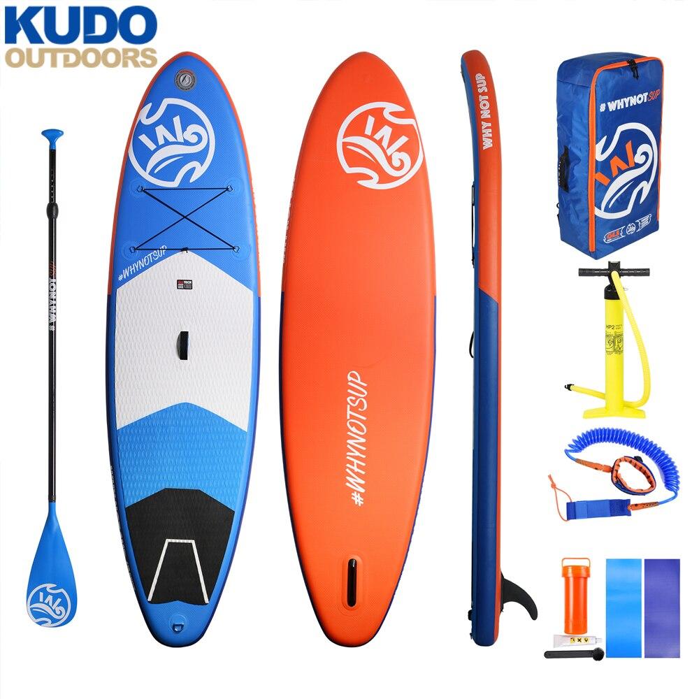 10'2'' × 33 ''× 6'' WHYNOT Stable gonflable SUP Board avec libre sup paddle pompe sac à dos laisse US boîte ailette navire de la russie locale