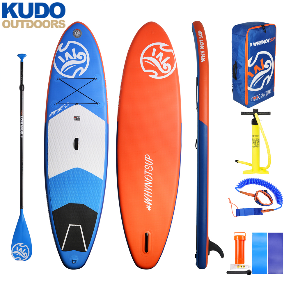 10'2''×33''×6'' WHYNOT Stable Inflatable SUP Board With Free sup paddle Pump Backpack Leash US box fin ship from local Russia
