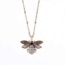 Joolim Retro Pearl Bee Pendant Necklace Antique For Women