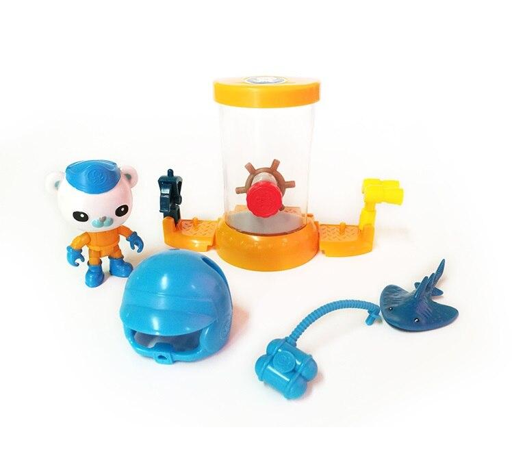 4 styles of Octonauts Peso Barnacles Shellington Kwazii resure explore set figures birthday gift bath toy child