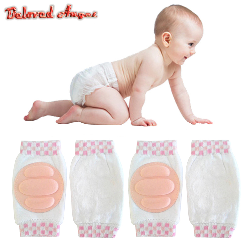 1 Pair Kids Cartoon Cute Crawling Elbow Infants Toddlers Baby Knee Pads Protector Safety Mesh Kneepad Children Harnesses Leashes