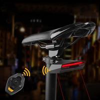 USB Remote Control Turn Signal Bicycle Light Taillight Laser Warning Light Night Riding Bike Tail Light Lamp