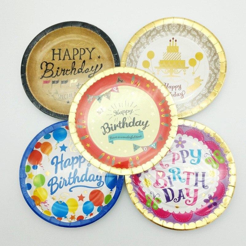 6pcslot 7 inch disposable paper plates dish party decoration cake pan party supplies cartoon - Decorative Paper Plates