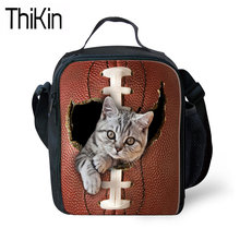 521cacd99 THIKIN Lunch Bag for Kids Animal Cat Printing Portable Lunchbox Children  Thermal Lunchbag Girls Cute Meal