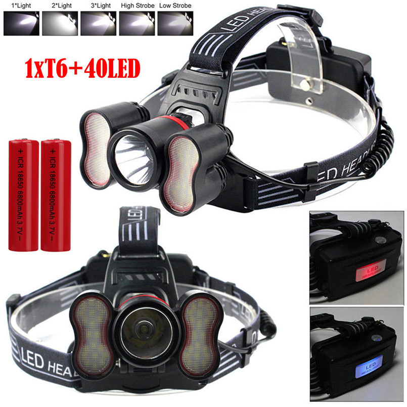Outdoor Sport Cycling Bike Light 30000LM XM-L T6 41LED Sensor Headlamp Micro USB Fishing Head light Flashlight A2 suunto bike sensor