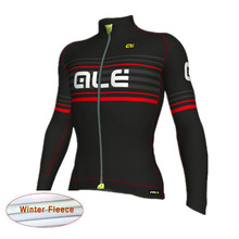 2018 ALE Pro Team Cycling Jersey Warm Thermal Fleece Men Long Sleeve Ropa uniformes ciclismo hombre Cycle Clothing Sportwear K10