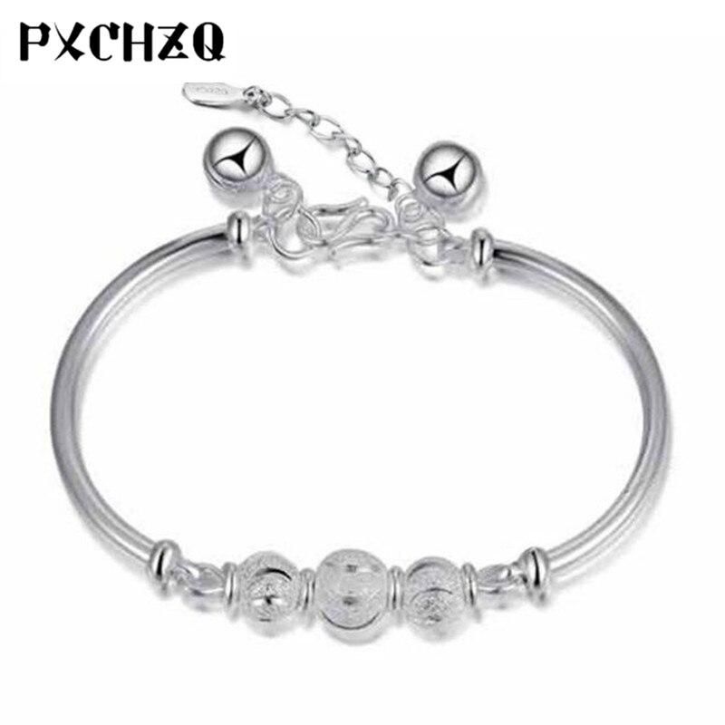 New Bling Silver color Bracelet Cute Sweet Lady Jewelry
