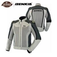 Benkia мотоцикл мужская куртка из дышащей ткани ветрозащитный Мото куртка Броня Женская мотоциклетная куртка улице крейсер сетчатая куртка о