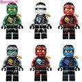 6pcs/set Legoes Ninjagoes Villans Decool Blocks KAI JAY COLE ZANE Lloyd Deepstone armor Ghost Ninja Tournament