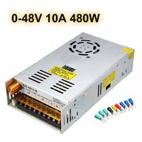 480W AC110/220V To DC 0 24V/0 48V Adjustable Switch Power Supply Adapter LED Lighting Transformer Driver For LED Strips Lights