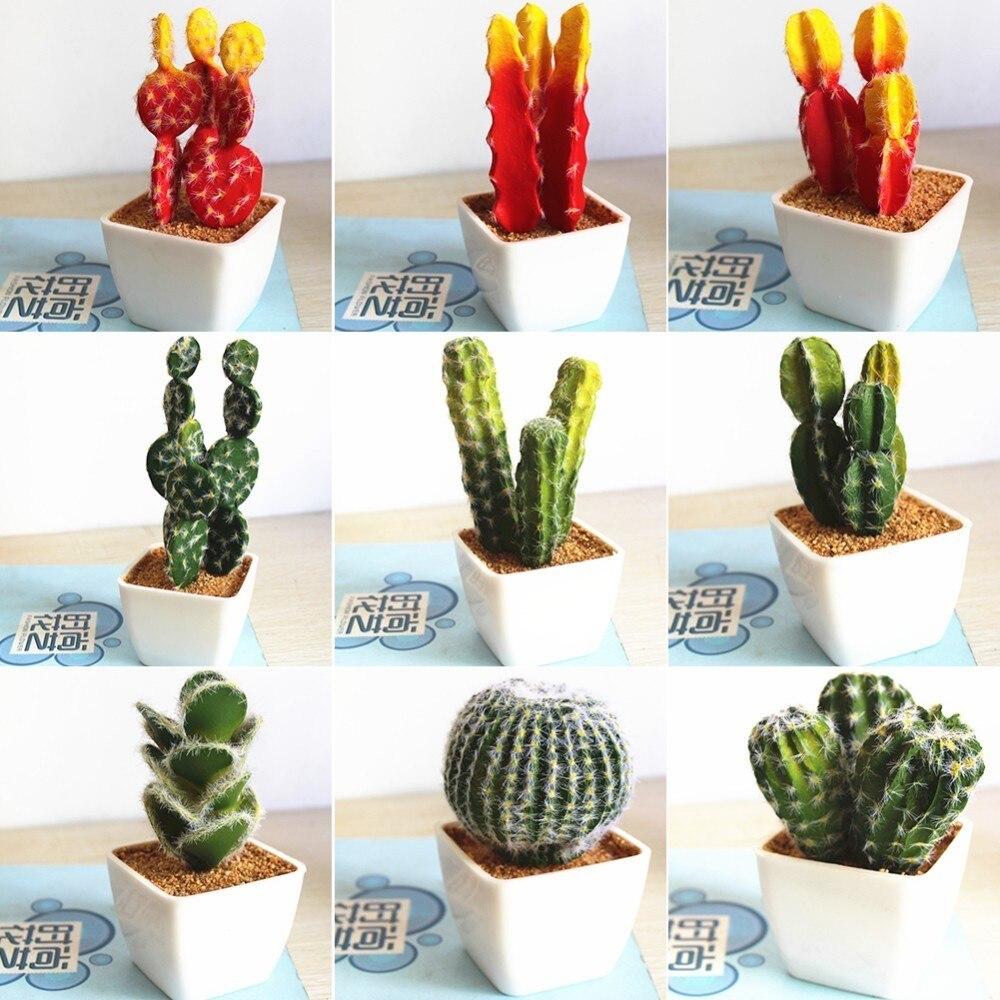 Simulation Tropical Plants Cactus Bonsai Innovative Diy Succulents Potted Plants Ornaments