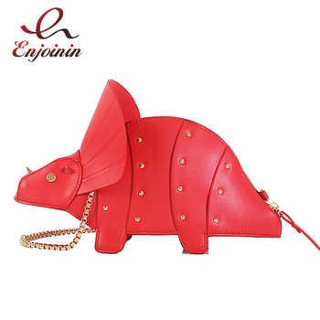 New 3D Unicorn Dinosaur Design Pu Cute Tote Bag Crossbody Mini Bag Clutch Bag Fashion Handbag Shpulder Bag Chain Purse - DISCOUNT ITEM  50% OFF All Category