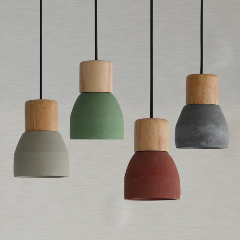 Restaurant Bar Cafe  Pendant Lights Cement wood bedroom bedside entrance lamps red/green single head creative lamps ZAG classical chinese food industry restaurant bar cafe original wood single head pendant lights rmy 0247
