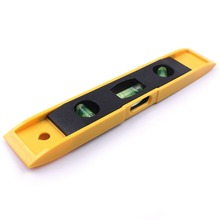 230 40 15mm Spirit Level Ruler High precision 45 Degree Vertical Horizontal ABS Shell 3 Bubble