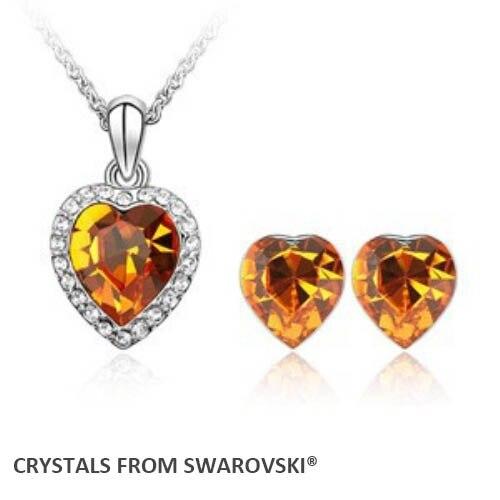 a14c99535849 2015 Venta caliente del estilo clásico del corazón collar de la joyería  cristales de Swaroski bueno para Navidad regalo