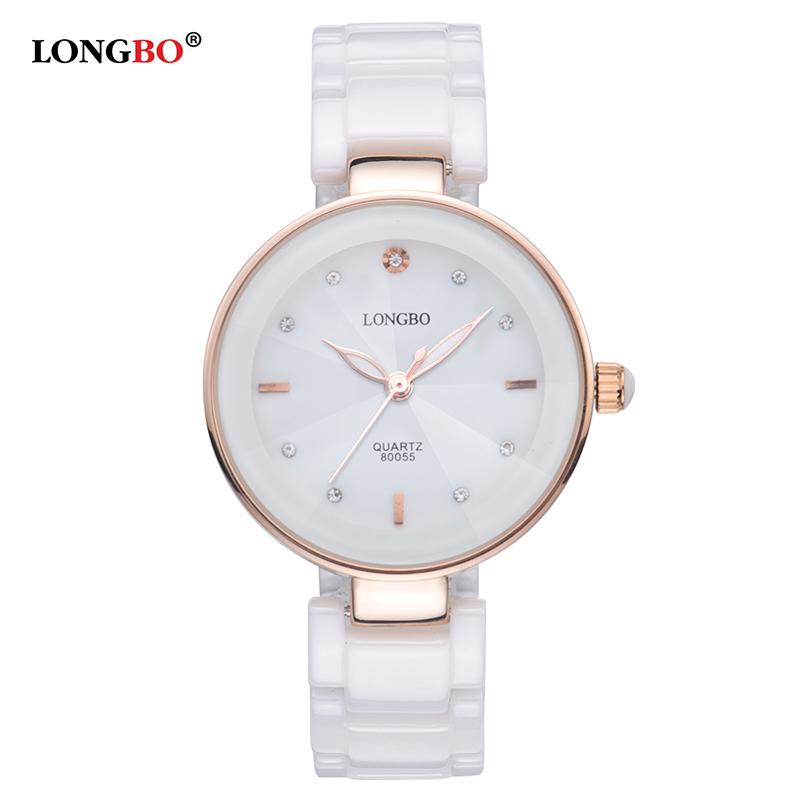 LONGBO 2017 Fashion Women Watches Luxury Ceramic Quartz Watch Ladies Casual Simple Waterproof Wristwatch Gifts Relogio Female