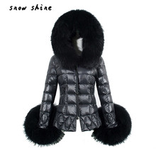snowshine #3002  New Winter Women's Down Cotton Parka Fur Collar Hooded Coat Quilted Jacket  free shipping