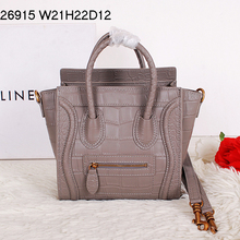 HOT SALE C brand Fashion Small size Smiling face bag with genuine leather women's handbag Crocodile pattern with logo