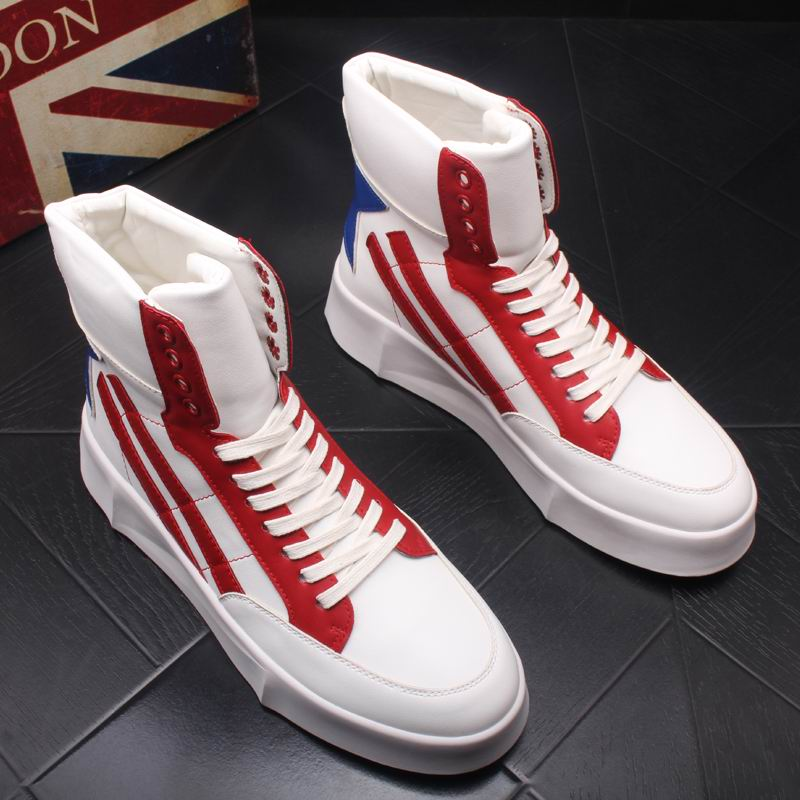 ERRFC New Arrival Fashion Men Casual Shoes High Top Trend Of Lace Up Man Ankle Boots