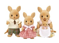 Kangaroo family without original box Sylvanian Family mini size action Figures Anime Cartoon figures Toys Child Toys gift